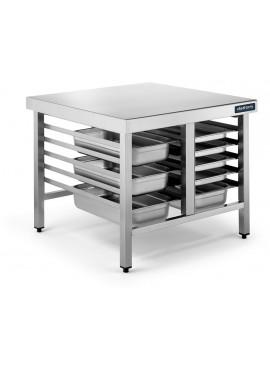 Mesa soporte para hornos 6+6 bandejas GN 1/1 y 2/1